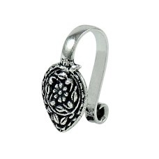 Trendy 925 Sterling Silver Nose Pin Indian Jewellery