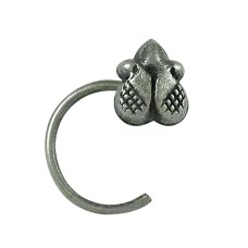 Scenic 925 Sterling Silver Nose Pin Indian Jewellery
