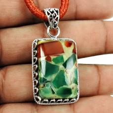 Rare Fuchsite Gemstone Pendant Sterling Silver Fashion Jewellery