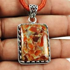 Trendy Fuchsite Gemstone Pendant 925 Silver Jewellery