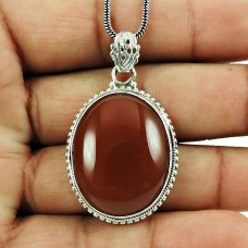 Fashion Red Jasper Gemstone Pendant 925 Sterling Silver Antique Jewellery