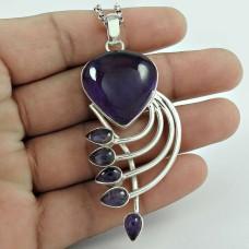 Purple !! Amethyst 925 Sterling Silver Pendant