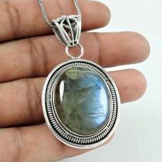 Royal Style!! 925 Sterling Silver Labradorite Pendant