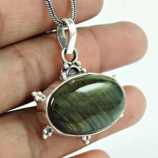 Trendy 925 Sterling Silver Labradorite Gemstone Pendant Jewellery