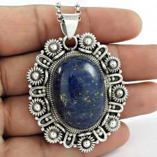 925 Sterling Silver Jewellery Traditional Lapis Gemstone Pendant Mayorista