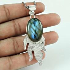 Amazing Design!! 925 Sterling Silver Labradorite Pendant