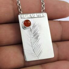 925 sterling silver indian Jewellery Charming Carnelian Gemstone Pendant Manufacturer
