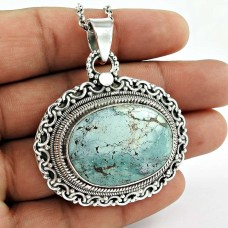 New Design !! Turquoise 925 Sterling Silver Bohemian Pendant