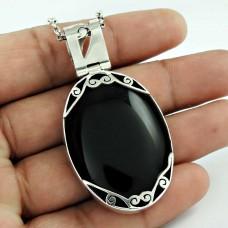 925 Silver Jewellery High Polish Black Onyx Gemstone Pendant Proveedor