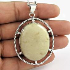 indian silver Jewellery Trendy Jasper Gemstone Pendant