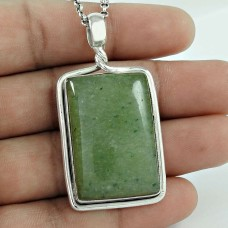 925 Sterling Silver Jewellery Ethnic Prehnite Gemstone Pendant Manufacturer