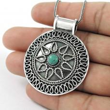 925 Sterling silver Jewellery Fashion Tibetan Turquoise Bohemian Pendant