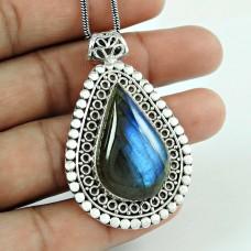 Secret Design 925 Sterling Silver Labradorite Pendant