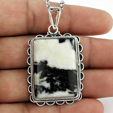 925 Silver Jewellery Traditional Zebra Jasper Gemstone Pendant Manufacturer India