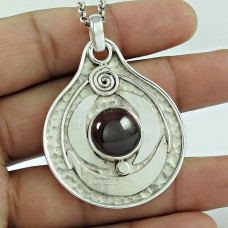 925 Silver Jewellery Beautiful Garnet Gemstone Pendant Wholesale