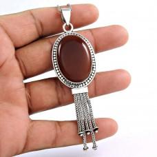 925 sterling silver fashion Jewellery Beautiful Carnelian Gemstone Pendant