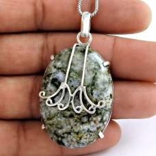 indian silver Jewellery Rare Ocean Jasper Gemstone Pendant