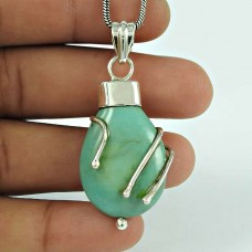 Secret Design!! 925 Sterling Silver Turquoise Pendant