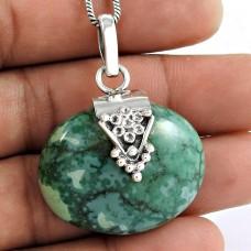 925 sterling silver Jewellery Beautiful Turquoise Gemstone Pendant
