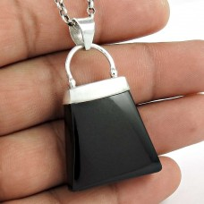 925 Sterling Silver Vintage Jewellery Ethnic Black Onyx Gemstone Pendant Supplier India
