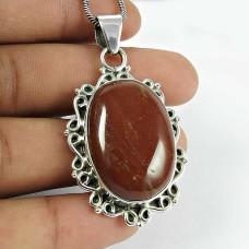 Classic Red Jasper Gemstone 925 Sterling Silver Pendant Jewellery