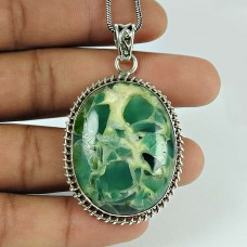 Rare Fuchsite Gemstone 925 Sterling Silver Pendant Jewellery