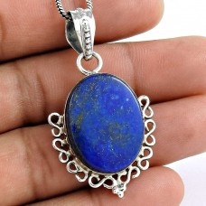 sterling silver Jewellery FashionLapis Gemstone Pendant