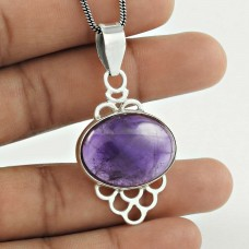 925 sterling silver Jewellery Beautiful Amethyst Gemstone Pendant