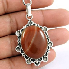 sterling silver Jewellery Fashion Onyx Gemstone Pendant