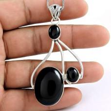 925 sterling silver gemstone Jewellery Charming Black Onyx Gemstone Pendant