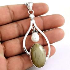 Paradise Lantern! 925 Sterling Silver Multi Stone Pendant
