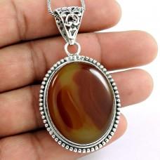925 sterling silver gemstone Jewellery Beautiful Print Jasper Gemstone Pendant