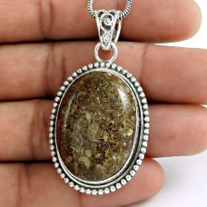 925 sterling silver fashion Jewellery Fashion Bronzite Gemstone Pendant
