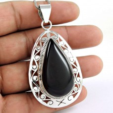 925 gemstone silver Jewellery Fashion Black Onyx Gemstone Pendant