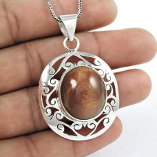 925 Sterling Silver Jewellery Fashion Star Ruby Gemstone Pendant Großhandel