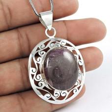 925 sterling silver indian Jewellery Beautiful Star Ruby Gemstone Pendant