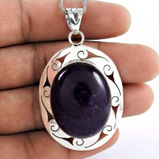 925 Silver Jewellery Beautiful Amethyst Gemstone Pendant Wholesale