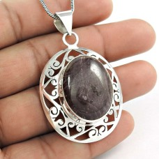 Sterling silver Jewellery Beautiful Star Ruby Gemstone Pendant