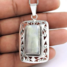 925 sterling silver Jewellery Charming Rainbow Moonstone Pendant