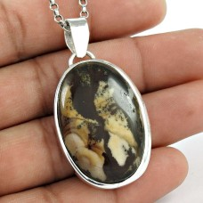 925 Sterling Silver Vintage Jewellery Fashion Septarian Gemstone Pendant Proveedor