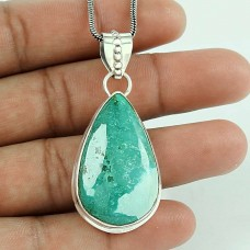 Charming 925 Sterling Silver Turquoise Gemstone Pendant Vintage Jewellery