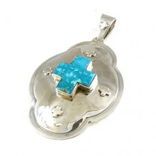 925 Sterling Silver Jewellery Traditional Turquoise Boho Pendant Mayorista