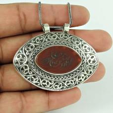 Bohemian sterling silver fashion Jewellery Beautiful Afghan Stone Gemstone Pendant