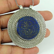 New Bohemian 925 Sterling Silver Afghan Stone Fashion Pendant