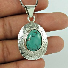 925 sterling silver gemstone Jewellery Rare Turquoise Gemstone Pendant