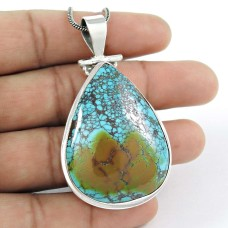 Lilac Kiss!! 925 Sterling Silver Turquoise Pendant