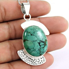 Lovely!! 925 Sterling Silver Turquoise Pendant