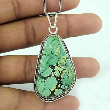 Vision !! 925 Sterling Silver Turquoise Gemstone Pendant Jewellery