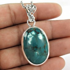 Fashion Design!! 925 Sterling Silver Turquoise Pendant