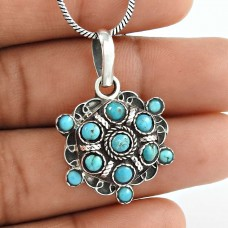 So In Love!! Turquoise 925 Sterling Silver Pendant
